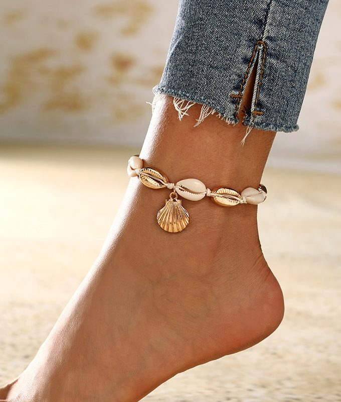 Seashell Anklet-New-Natural-Shell-Conch-Rope-Anklets-For-Women-Foot-Jewelry-Summer-Beach-Barefoot-Bracelet-Ankle