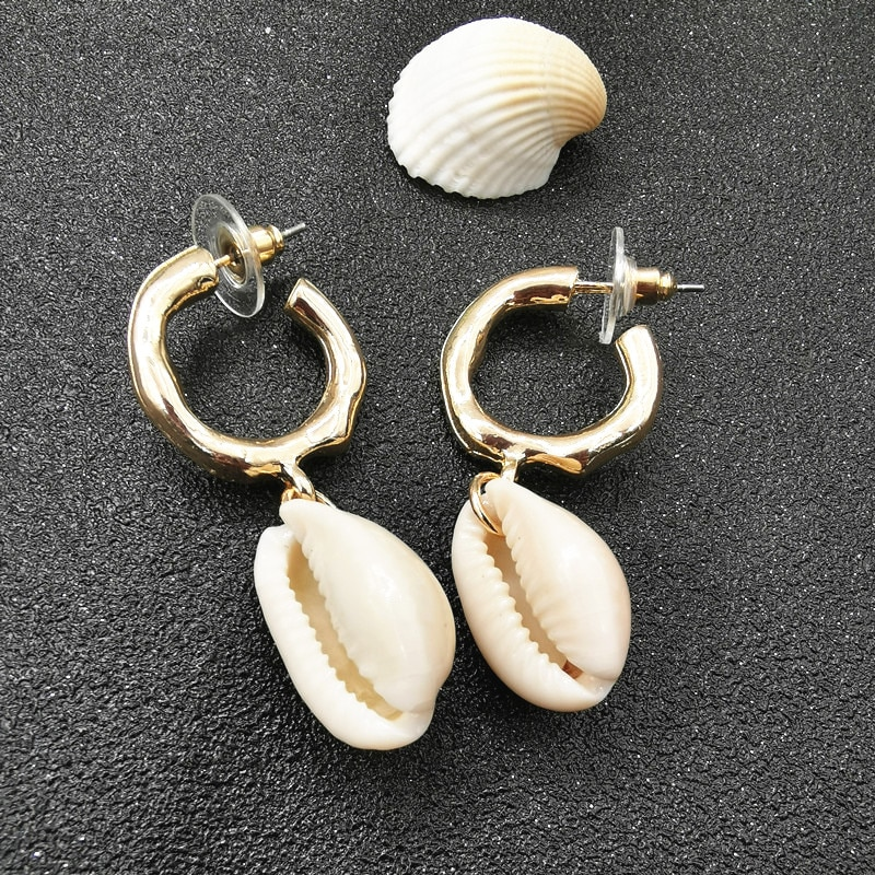 5_JCYMONG-13-Style-Sea-Shell-Earrings-For-Women-Gold-Silver-Color-Metal-Shell-Cowrie-Statement-Earrings
