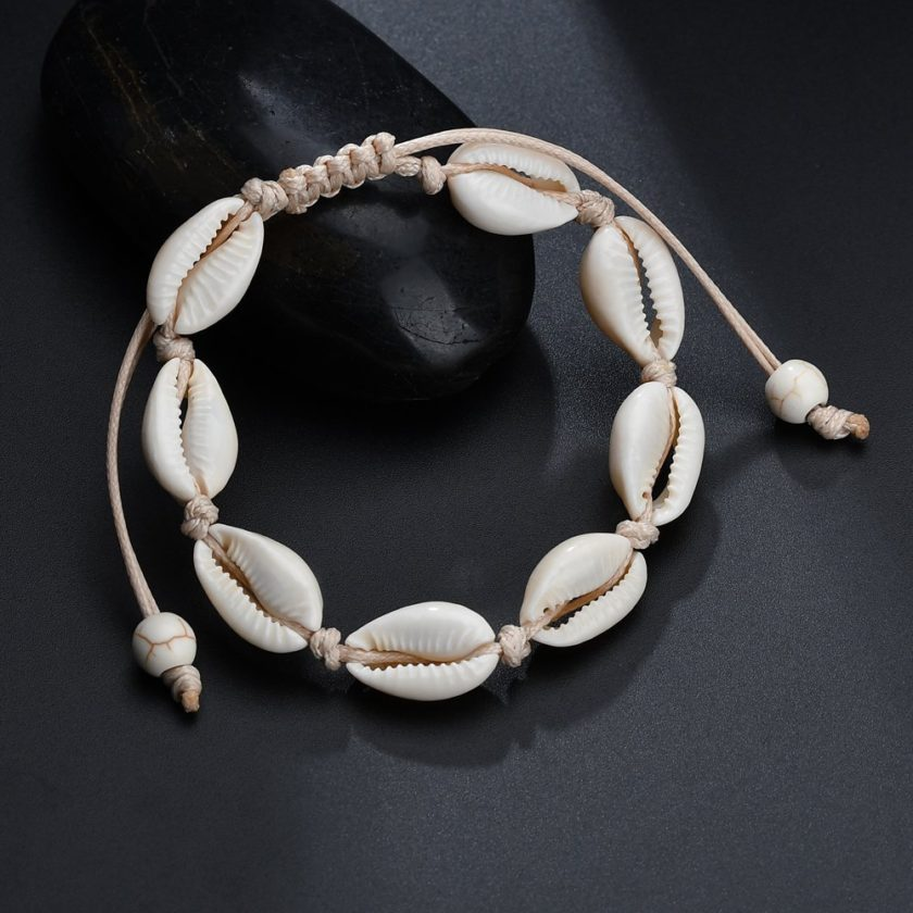 sea shell cowries bracelet handmade